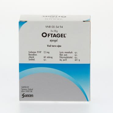 OFTAGEL OPH GEL 3X10GM/25MG