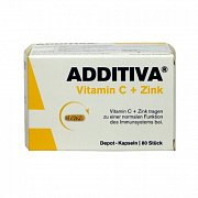 ADDITIVA VITAMIN C + ZINEK   80 CPS