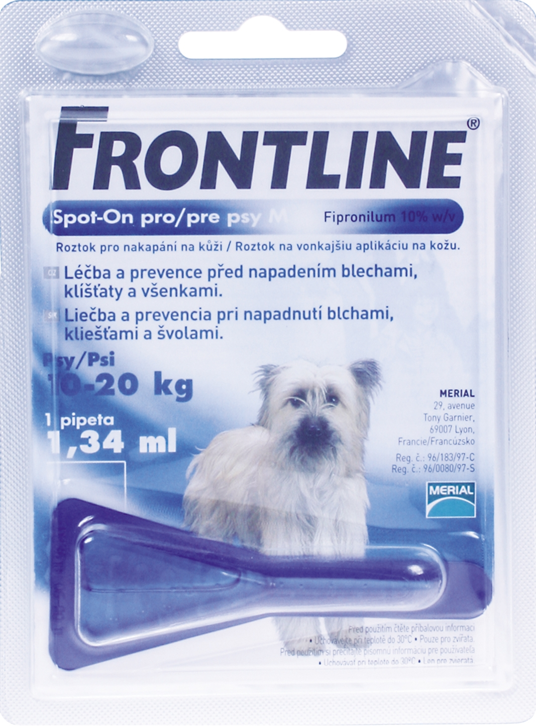 FRONTLINE SPOT-ON DOG M 10-20KG 1 AMP A.U.V.